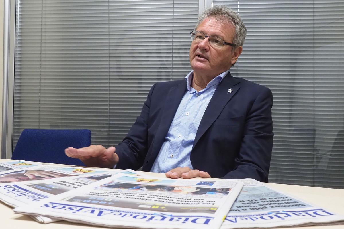 Sergio Batista, presidente de la UDG Tenerife./Sergio Méndez