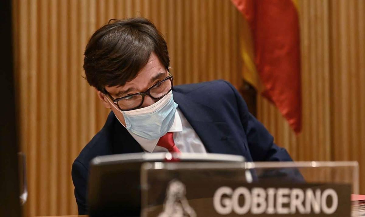Salvador Illa, ministro de Sanidad, en la Comisión de Sanidad del Congreso. Efe