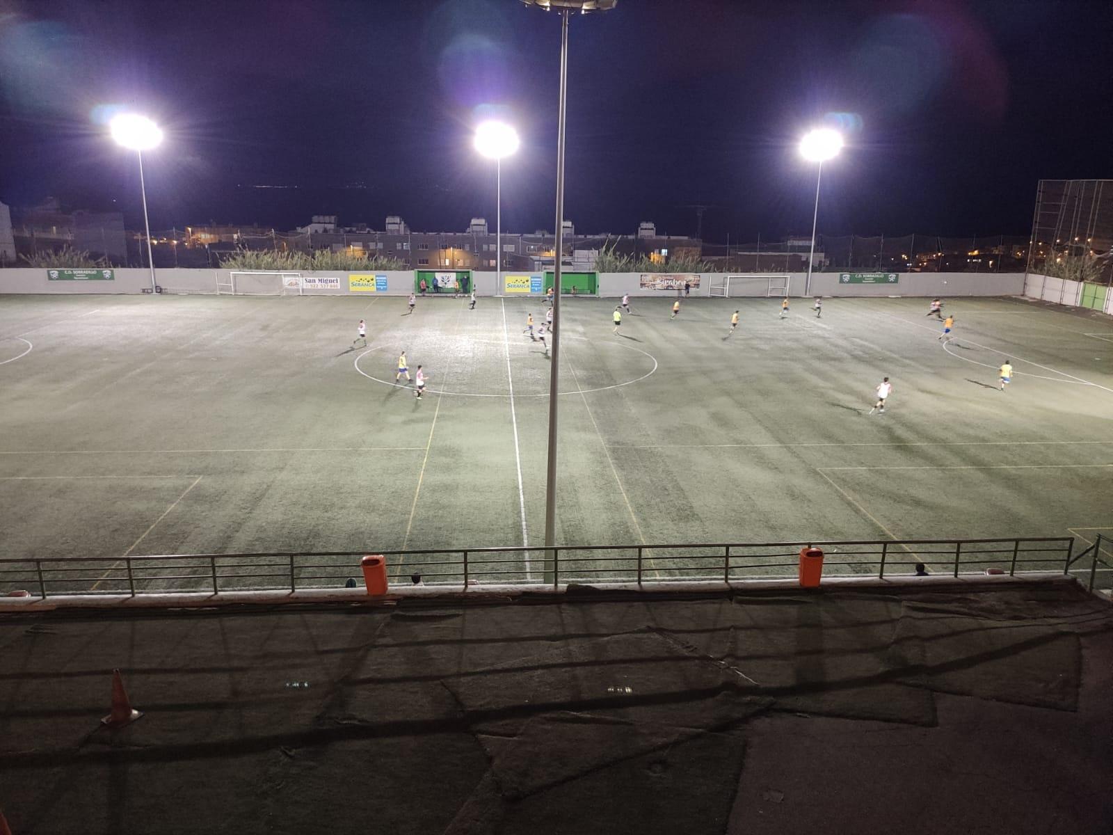 Partido de fútbol base celebrado en El Sobradillo