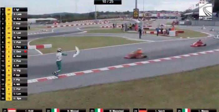 La vergonzosa y peligrosa acción del piloto de karts Luca Corberi en el Mundial