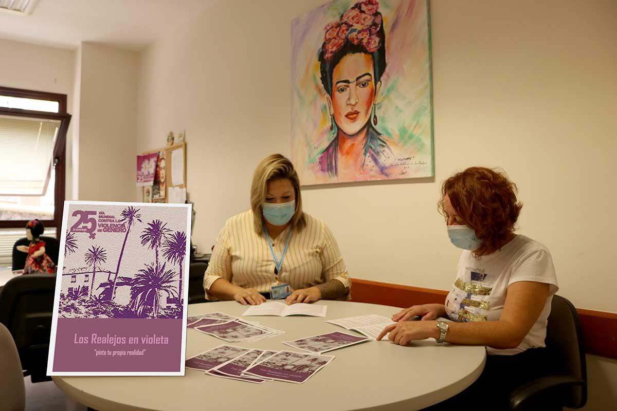 Presentación actividades Igualdad noviembre Los Realejos en violeta