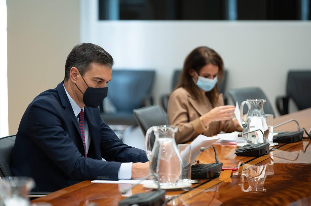 El presidente del Gobierno, Pedro Sánchez, preside la reunión del Comité de Seguimiento del Coronavirus, en el Complejo de la Moncloa. EP