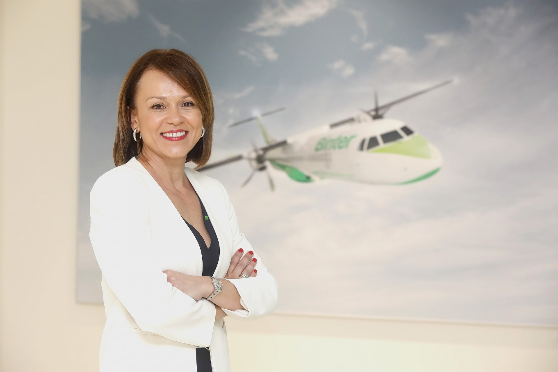 La directora de relaciones institucionales y Comunicación de Binter, Noelia Curbelo. DA