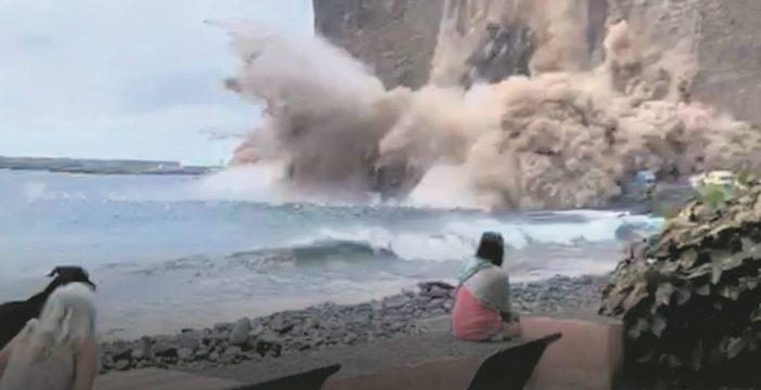 30 personas siguen aisladas tras el derrumbe en el barranco de Argaga