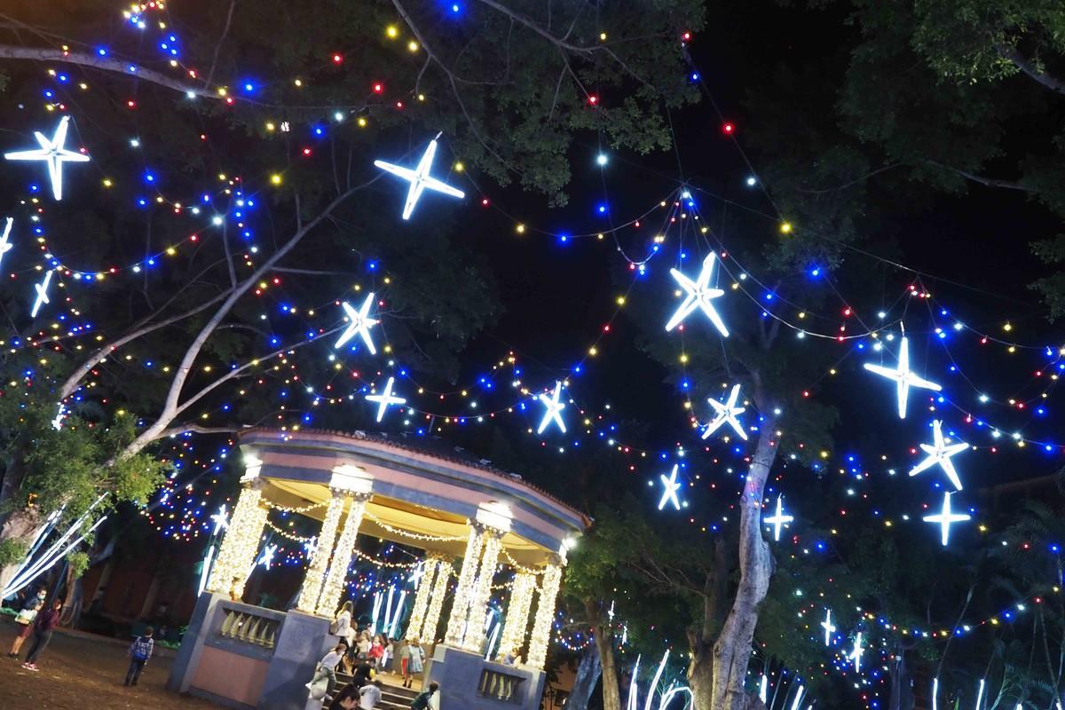 Imagen de los adornos navideños en Santa Cruz. Sergio Méndez