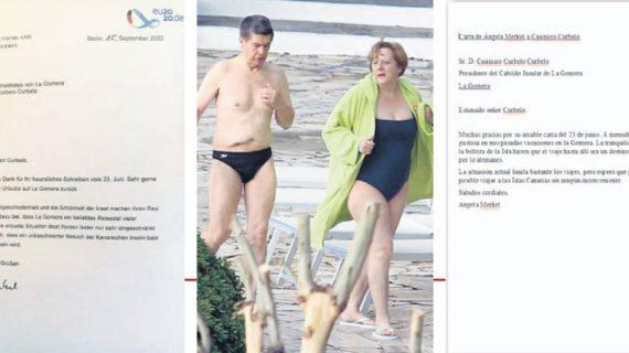 La carta personal de Angela Merkel a Casimiro Curbelo ve la luz en el DIARIO