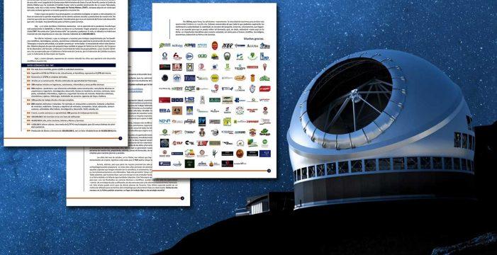 Más de 100 firmas de apoyo a instalar el TMT en La Palma