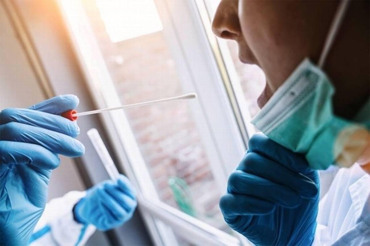 Realización de una prueba PCR para la detección de la covid-19. EP