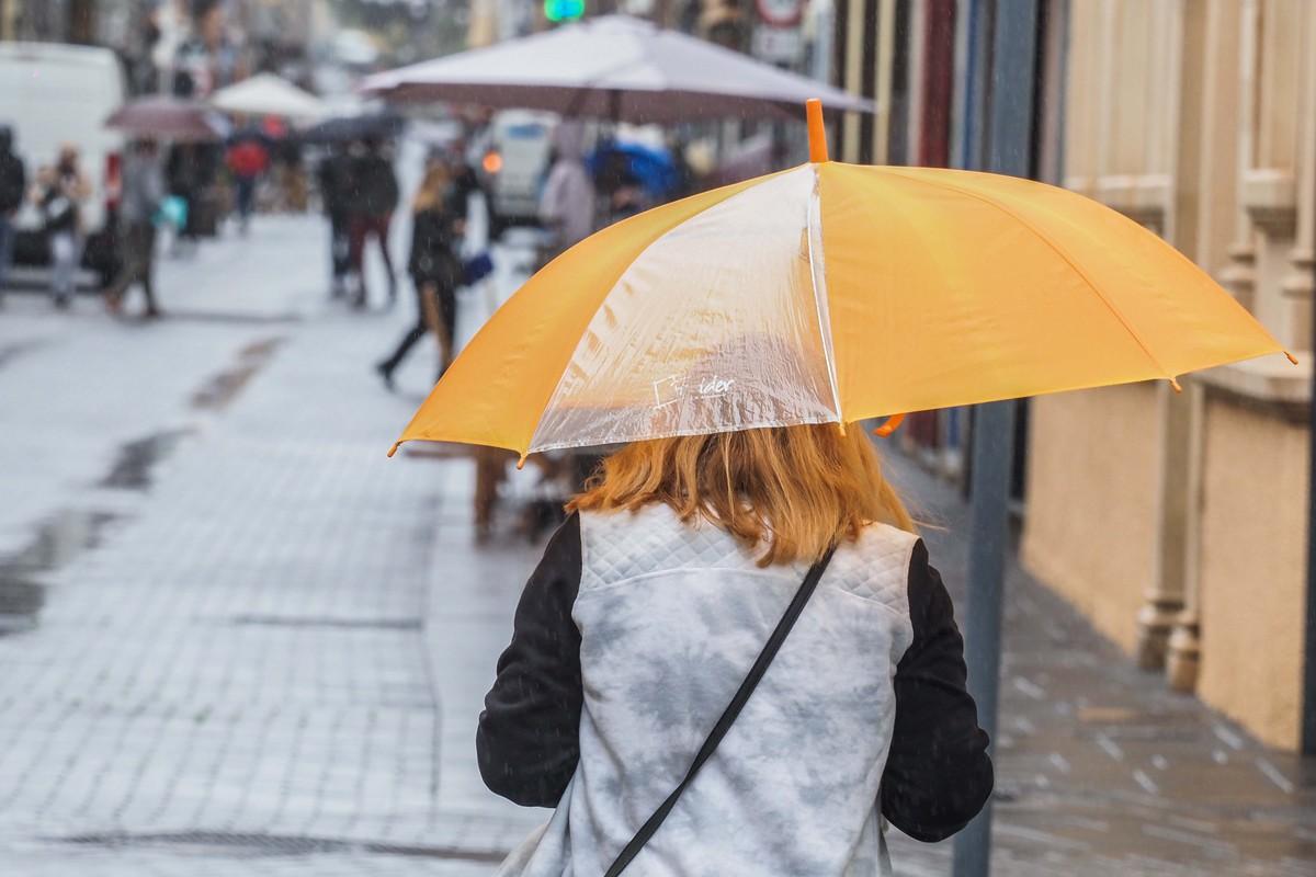 Imagen de archivo de lluvia en La Laguna, Tenerife. Sergio Méndez