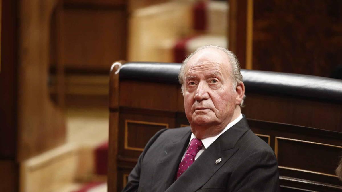 Juan Carlos I en su última asistencia al Congreso de los Diputados. Europa Press