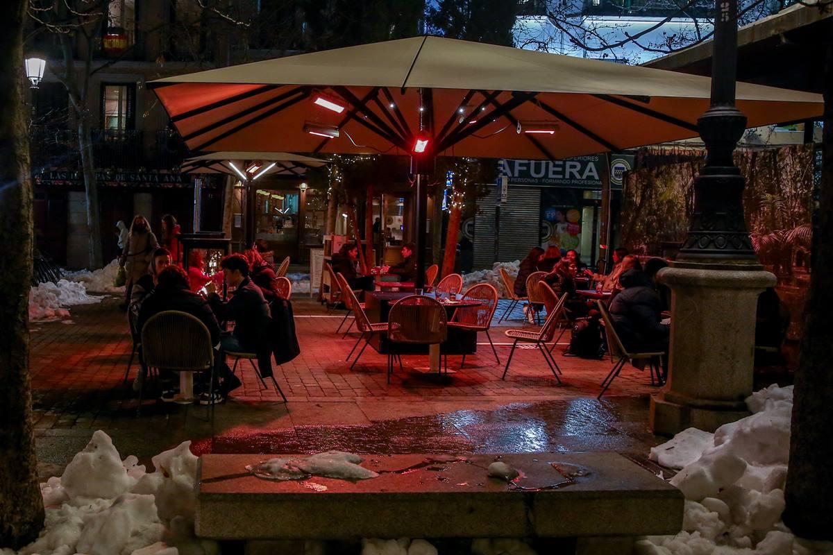 La terraza de un restaurante en Madrid. EP
