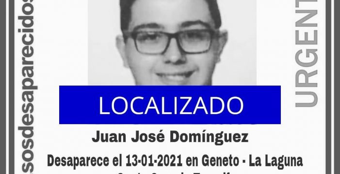 Localizan al joven desaparecido en La Laguna gracias a la colaboración ciudadana