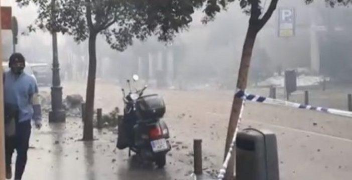 Una fuerte explosión derrumba un edificio en Madrid