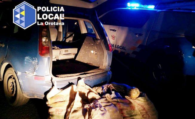 La Policía intercepta un vehículo en La Orotava que se había dado a la fuga en un control