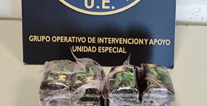 Detenido con 20 tabletas de hachís en Gran Canaria