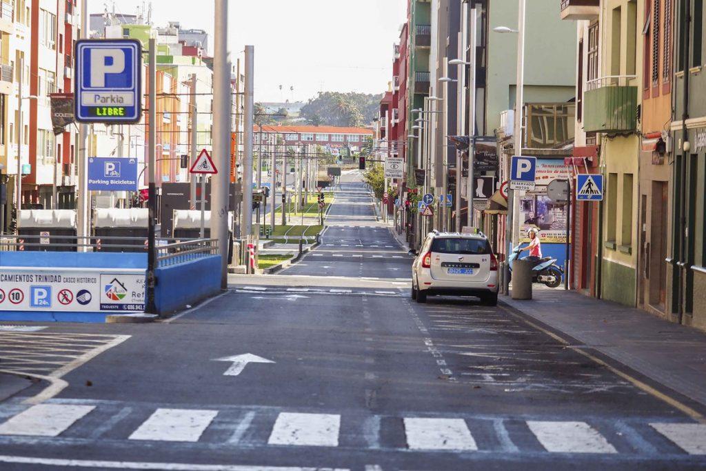 Imagen de la céntrica avenida de la Trinidad, en La Laguna