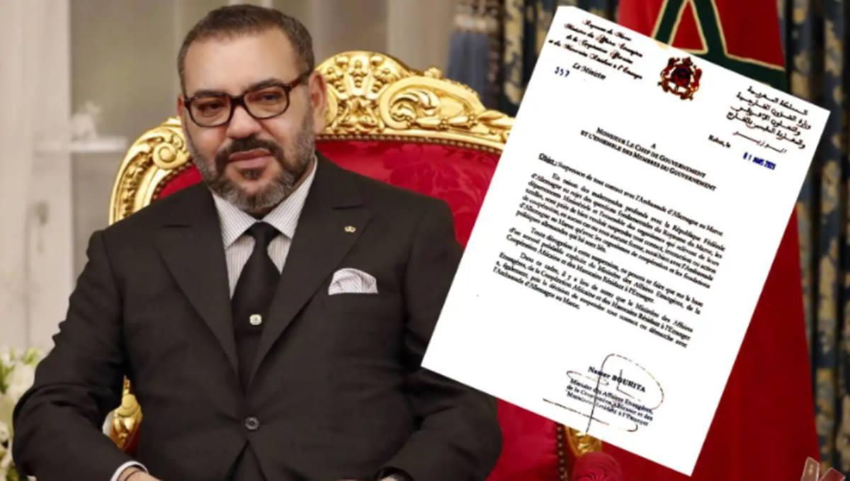 Mohamed VI y la orden del ministro de Asuntos Exteriores dirigida a su gobierno .