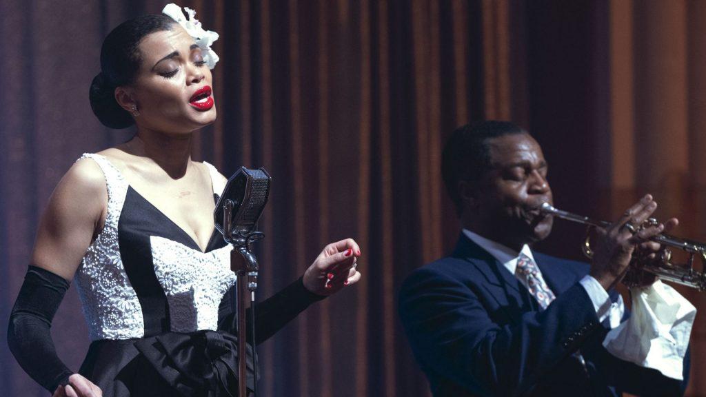 En 'Los Estados Unidos contra Billie Holiday', Andra Day interpreta a la gran cantante de jazz.