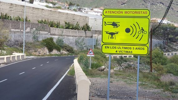 """La DGT señala 18 puntos negros o """"mortales"""" en Tenerife para los motoristas"""