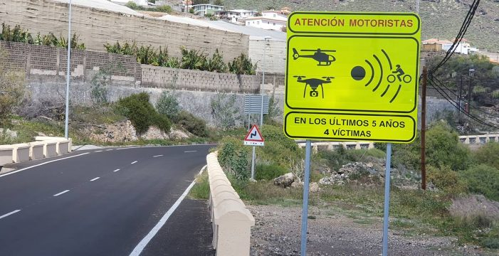 Estos son los 18 tramos más peligrosos para un motorista en Tenerife