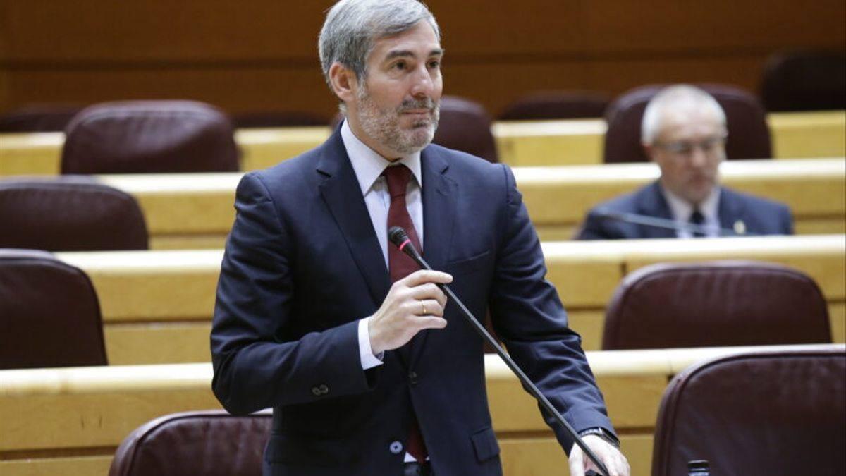 Fernando Clavijo, en el Senado. DA