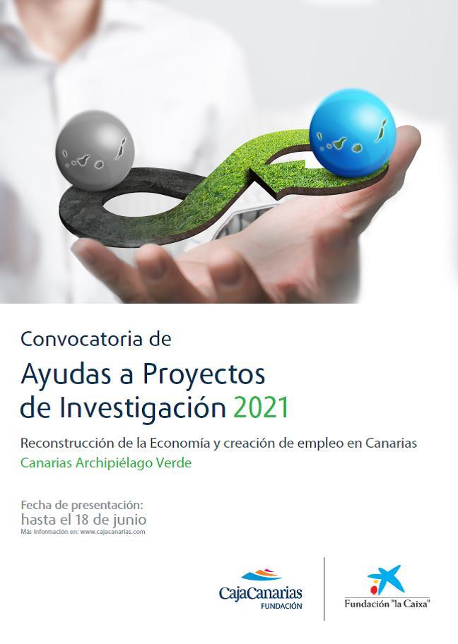 """La Fundación CajaCanarias y la Fundación """"la Caixa"""" abren el plazo de presentación a su Convocatoria de Ayudas a Proyectos de Investigación 2021"""