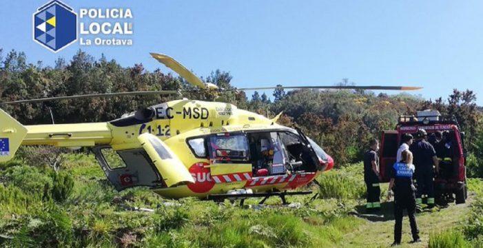 Rescatan a un hombre con una parada cardiorrespiratoria en La Orotava