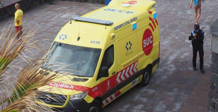 Dos heridos tras una colisión entre un coche y una moto en el Sauzal