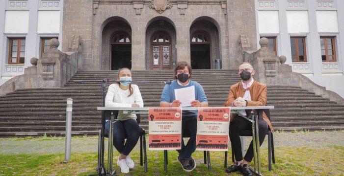 Los alumnos de la ULL, en huelga para defender la convocatoria de septiembre