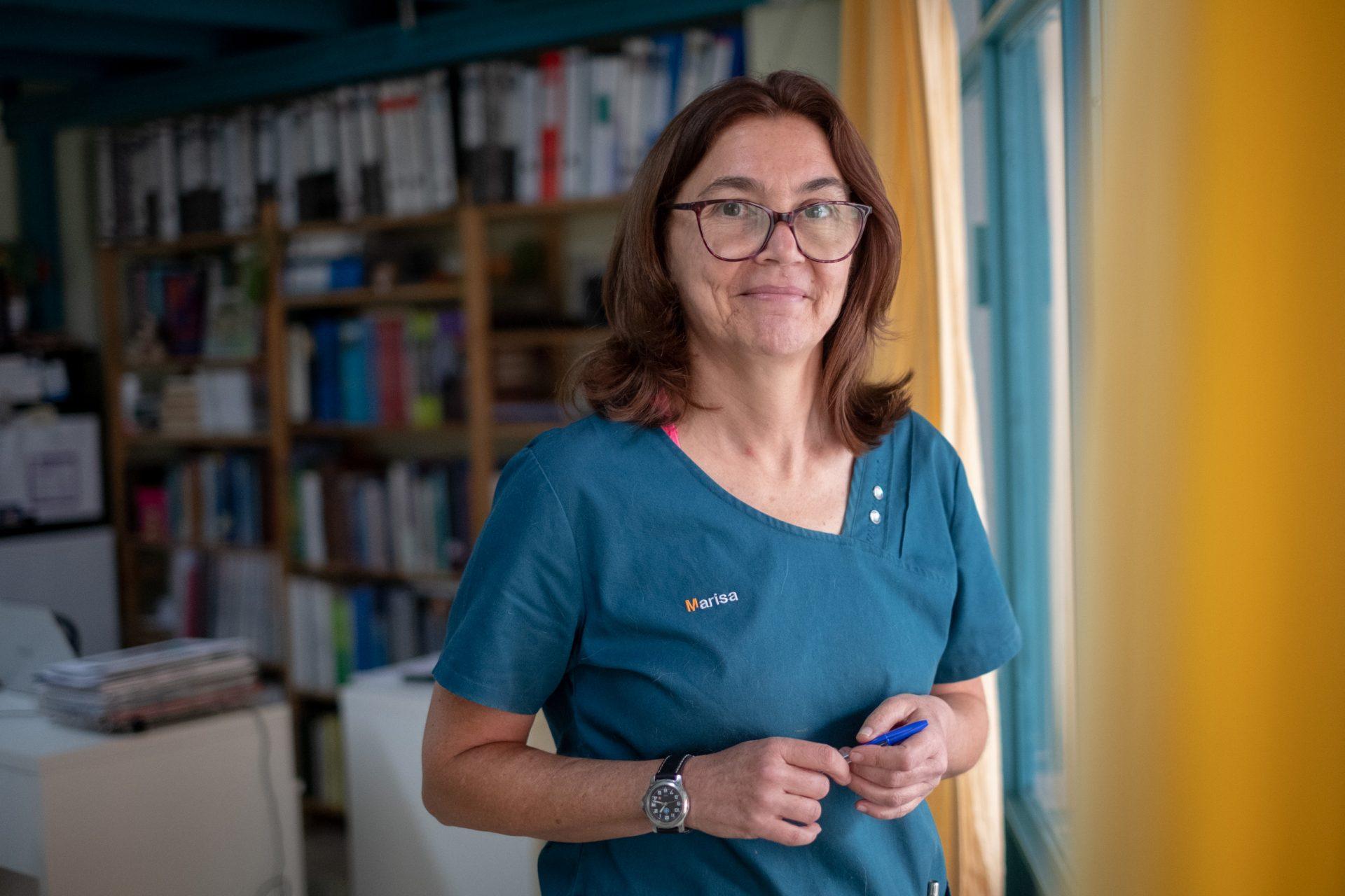 """Fernández, presidenta del Colegio de Veterinarios: """"Somos los únicos sanitarios sin vacunar"""". FRAN PALLERO"""