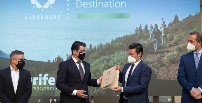 Tenerife recibe la certificación 'Biosphere' como destino sostenible