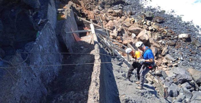 El último derrumbe en Punta Brava no afectó a las casas de la calle Tegueste