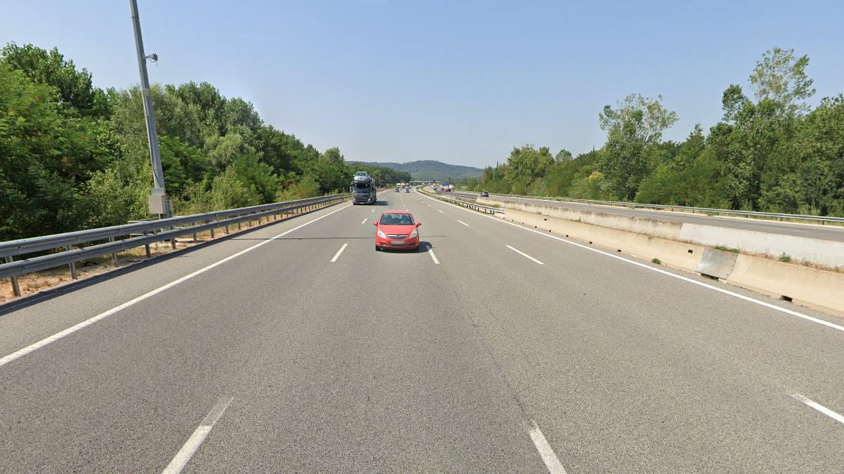Imagen de recurso de la AP-7 en el Baix Empordà (Gerona). Google Maps