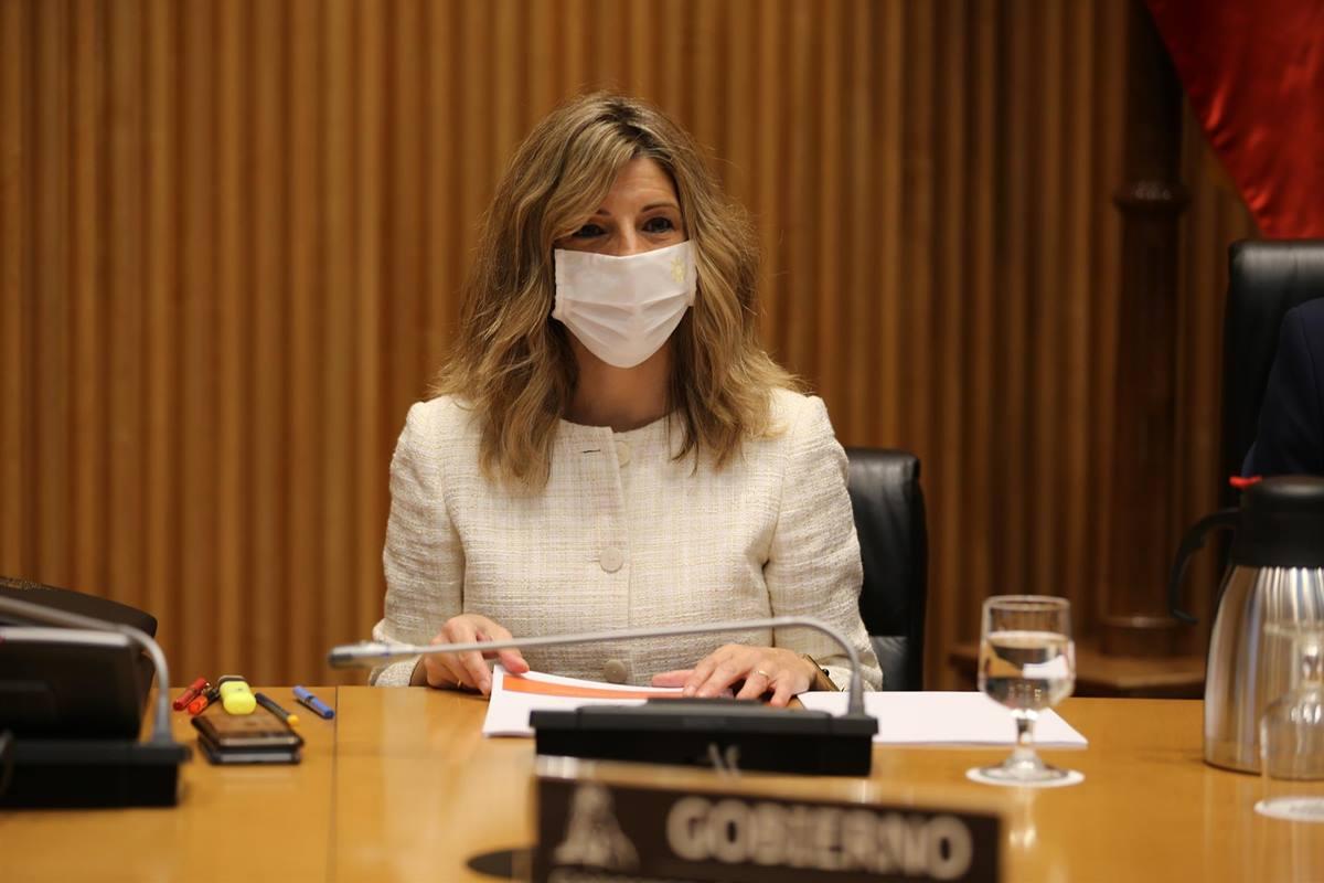 La ministra de Trabajo, Yolanda Díaz, comparece en el Congreso. MINISTERIO DE TRABAJO