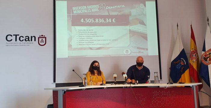 """Candelaria invierte este año 4,5 de los 16 millones de euros de sus """"ahorros"""""""