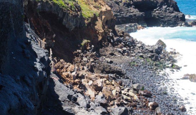 Encargan un informe urgente ante un nuevo derrumbe en Punta Brava