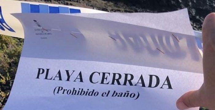 Prohíben el baño en dos playas de Granadilla tras un acto vandálico en un emisario