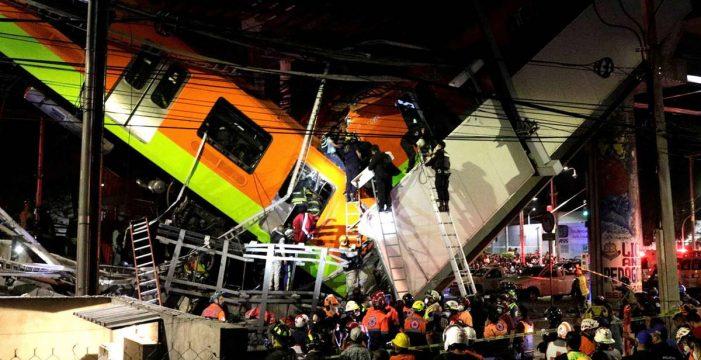 Al menos 23 muertos al desplomarse un tramo del metro en Ciudad de México