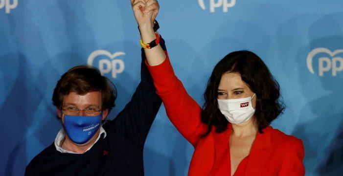 Más Madrid saca más de mil votos al PSOE al 95% escrutado