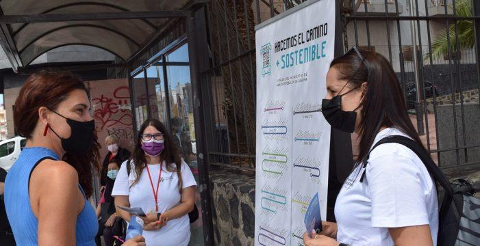 La Laguna lanza una campaña a pie de calle para fomentar el uso del transporte público