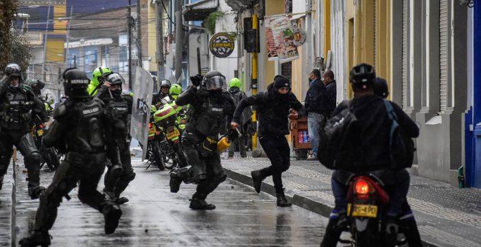 """Condenan el """"uso desproporcionado de la fuerza"""" contra los manifestantes en Colombia"""