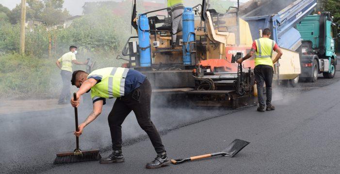 La Laguna inicia las obras de repavimentación de la calle Mayber, en Geneto
