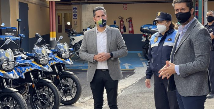 El Ayuntamiento de La Laguna refuerza la flota de la Policía Local con la adquisición de nueve motocicletas