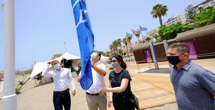 Siete playas y un puerto deportivo del Sur logran ocho banderas azules