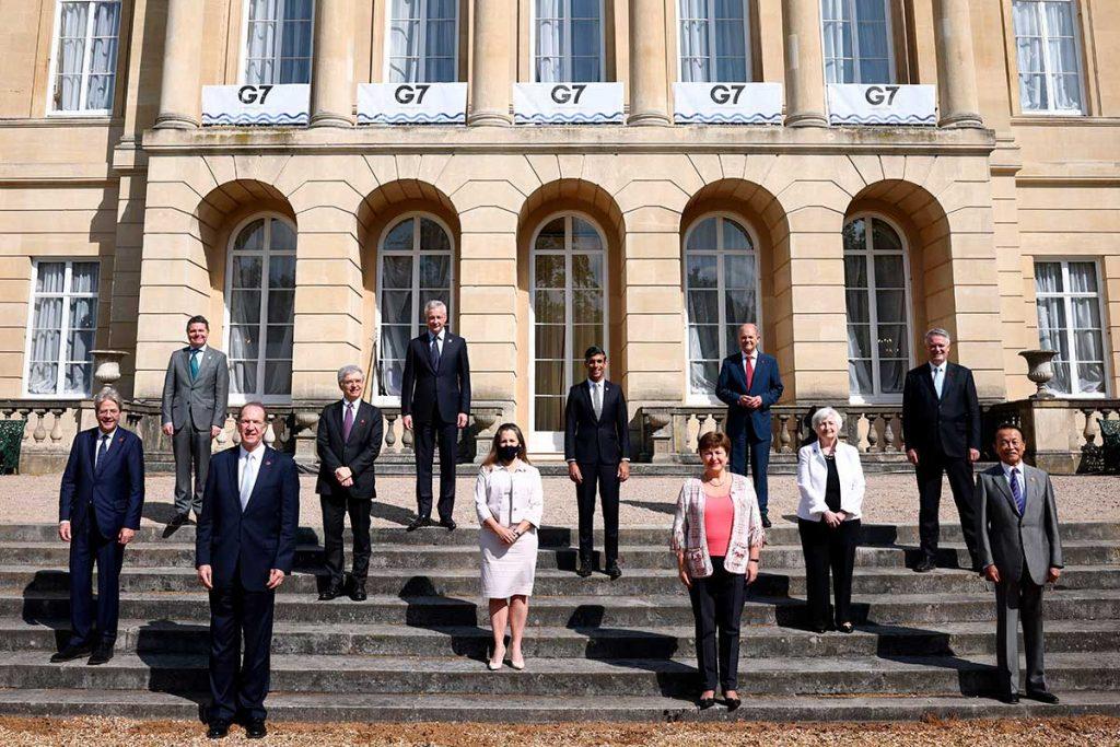 Reunión de los ministros de Finanzas del G7, que agrupa a Canadá, Estados Unidos, Japón, Francia, Alemania, Italia y Reino Unido. Europa Press
