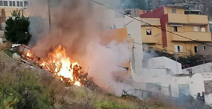 Incendio en el barrio de La Alegría