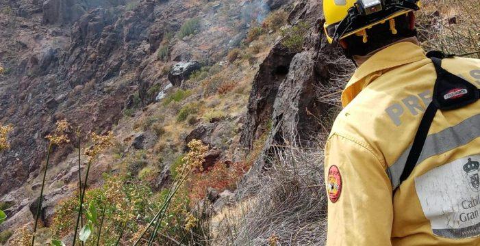 Estabilizados el incendio declarado en Los Albarianes, Mogán
