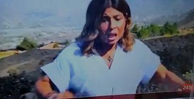 Un terremoto en La Palma sorprende en pleno directo a una periodista de Televisión Española