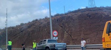 Un accidente provoca retenciones en la autopista TF-1